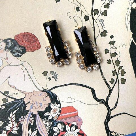 classical black pierce / earring