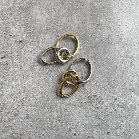 イヤーカフ  gold × silver 4way