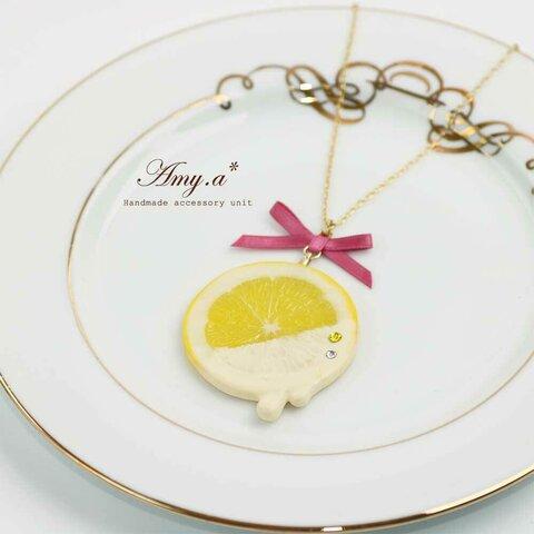 【受注製作】チョコがけレモンのネックレス