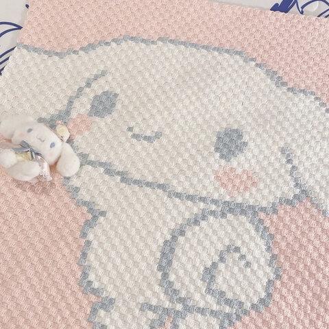 編みブランケット