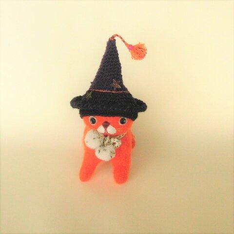 猫神様の使い♪【 ハロウィンの魔女の使い猫】