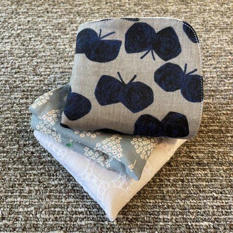 <new>  D cotton × linen5重ガーゼ ハンカチ3枚セット