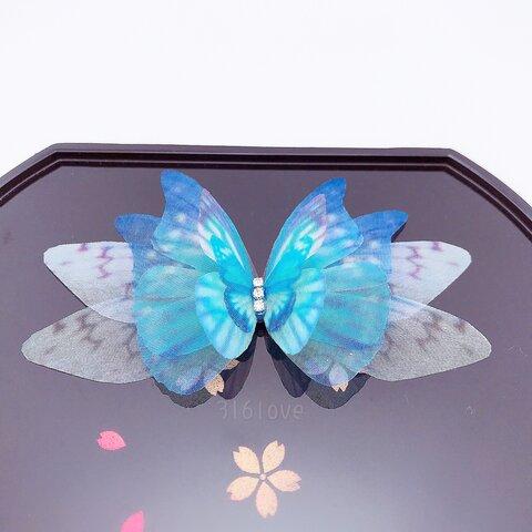 「新作 注文制作」蝶々ブローチ リング ヘアクリップ 浴衣 着物