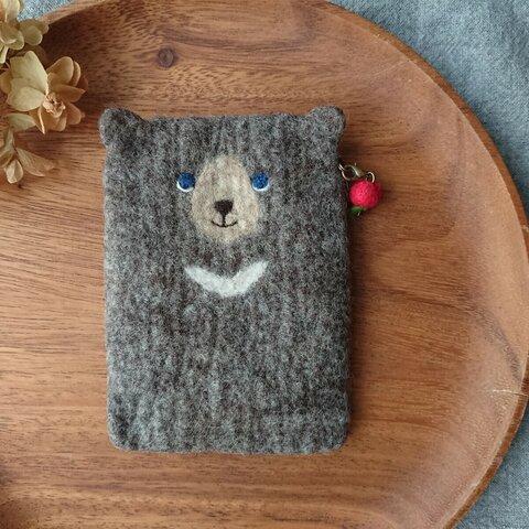 羊毛フェルト クマのティッシュケース