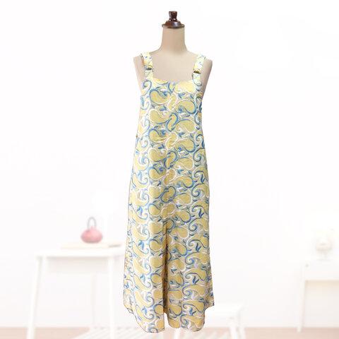 【一点物】キュロットジャンバースカート ゆったり 春夏 かわいい 80年代 レトロ生地