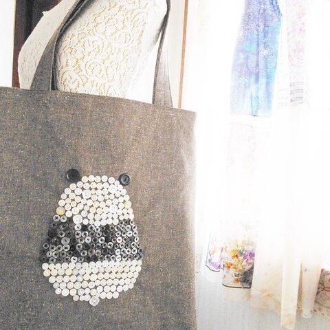 おむすびパンダのボタンのバッグ