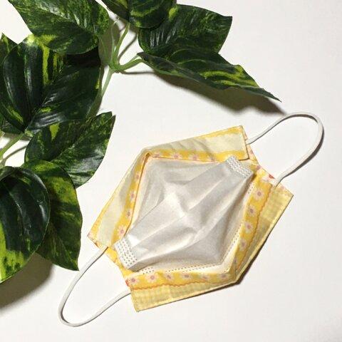 小さめサイズ 不織布マスクカバー インナーマスク ワンタッチ装着 花*イチゴ*チェック