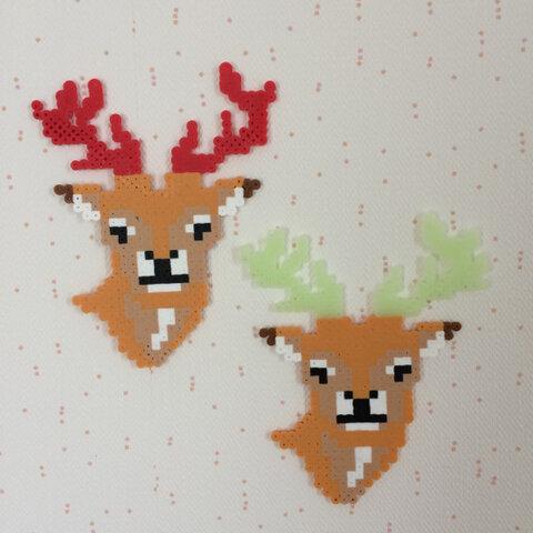 アイロンビーズの鹿