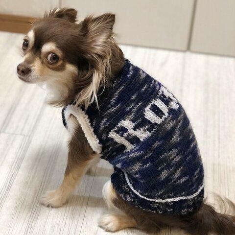 ネーム入りセーター