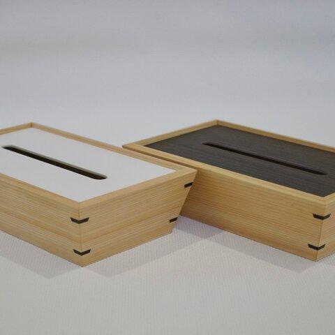 厳選ヒノキ柾目のティッシュボックス