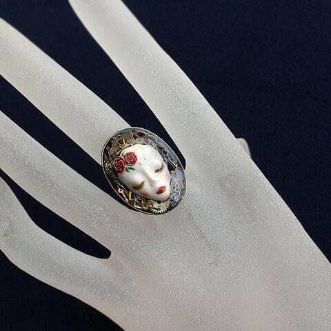 ビスク製/薔薇姫の指輪