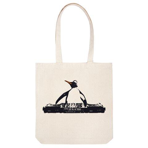 [トートバッグ] DJ penguin