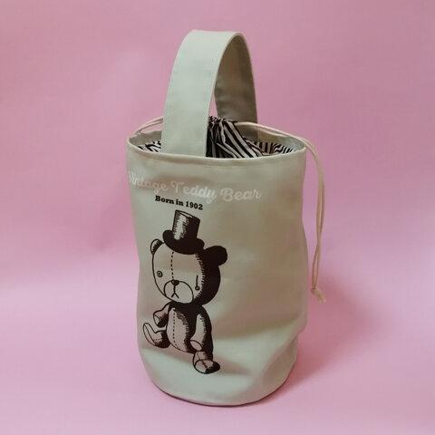 ヴィンテージベア さすらいのワンハンドル バケツバッグ