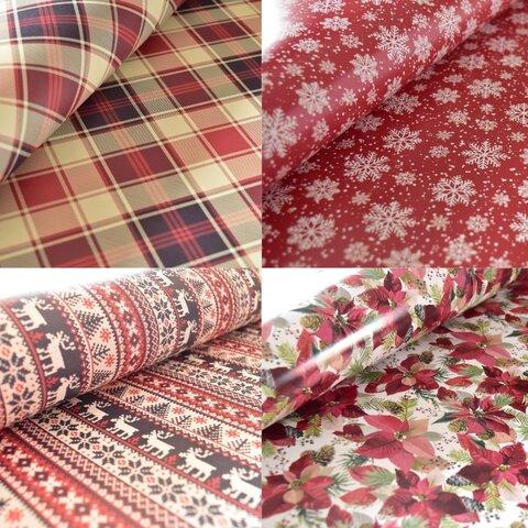 送料無料!(A3)yuibito.giftsクリスマスペーパー 赤系8枚セット