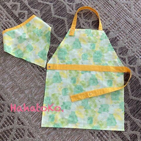 エプロンと三角巾セット 100〜120サイズ