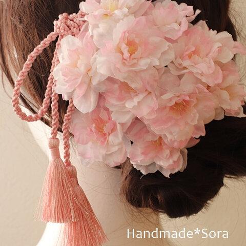 【豪華】成人式髪飾り♡桜の髪飾り☆卒業式髪飾り♡ヘッドパーツ☆ヘッドドレス髪飾り
