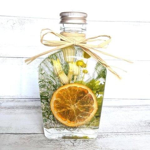 【選べるボトル蓋】オレンジの庭 ✺ ハーバリウムボトル