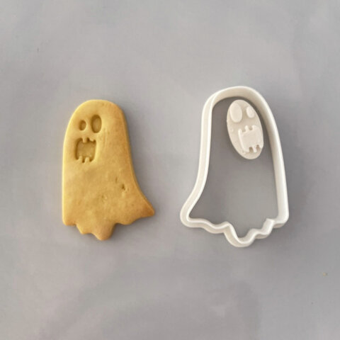 【ハロウィン】おばけ クッキー型(スタンプ付き)