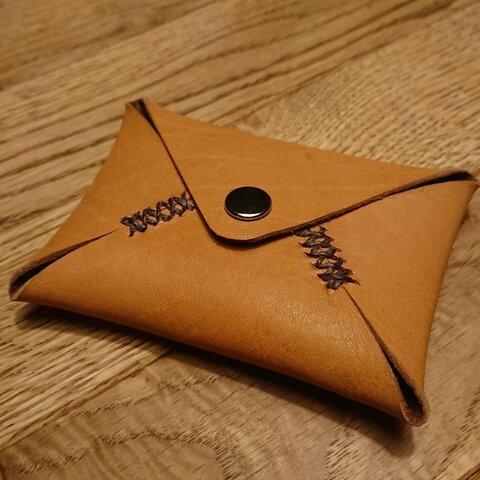 本革カードケース 「ヌメブラウン」