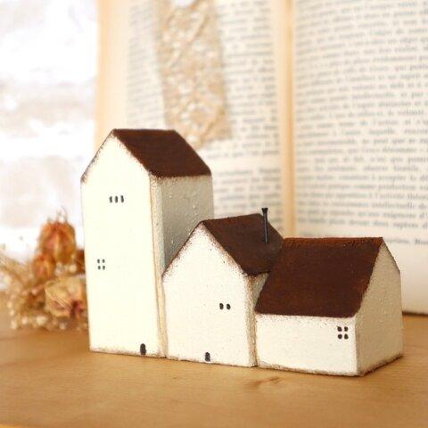 小さな木のお家(3個セット)