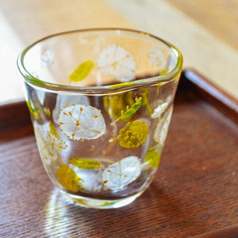ガラスのフリーカップ たんぽぽ