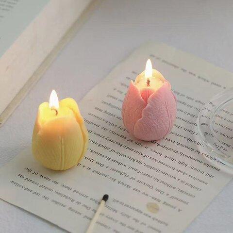 1p Nart Candle チューリップ モールド シリコンモールド キャンドル アロマ チューリップ 花