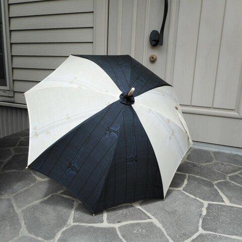 泥大島紬+透かし織りの日傘
