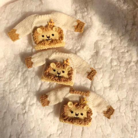【オビツ11】可愛い子ライオンニットセーター
