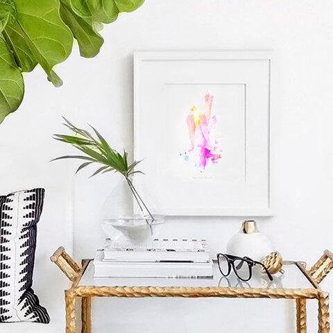 A3~A4サイズ/WaterColor Crystal Art Print/水彩 アートプリント/エンジェルクォーツ