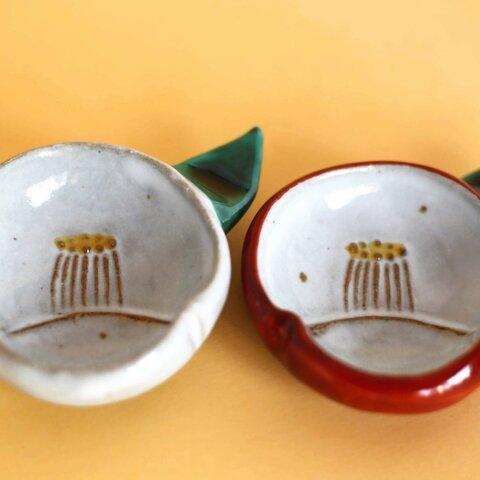 紅白椿豆皿