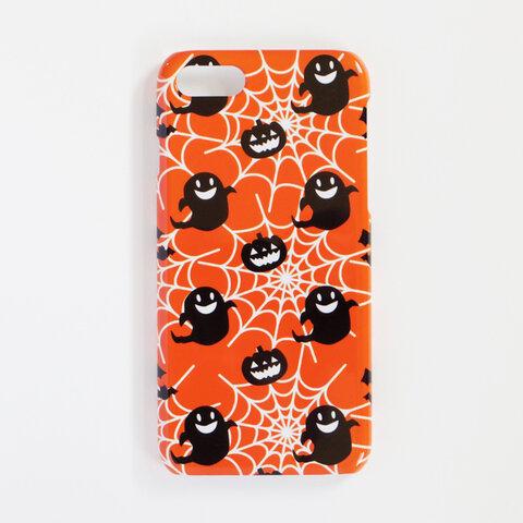 *iPhone / Android*ハロウィン オレンジ 北欧 スマホケース/スマホカバー 側面印刷 ハードカバー