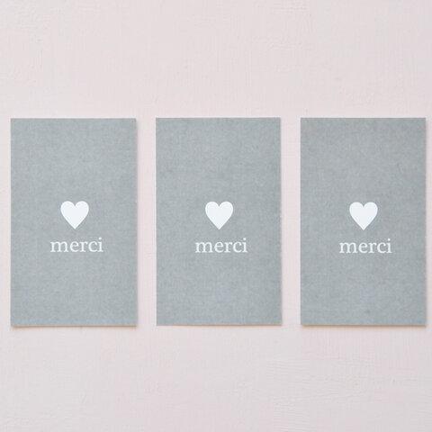 メッセージカード ハート♥ merci(100枚)