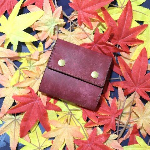 [秋色] コンパクトギャルソンウォレット ほくほくやきいも色