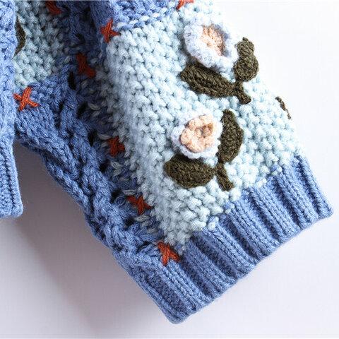 受注制作  刺繍*可愛いセーター コート