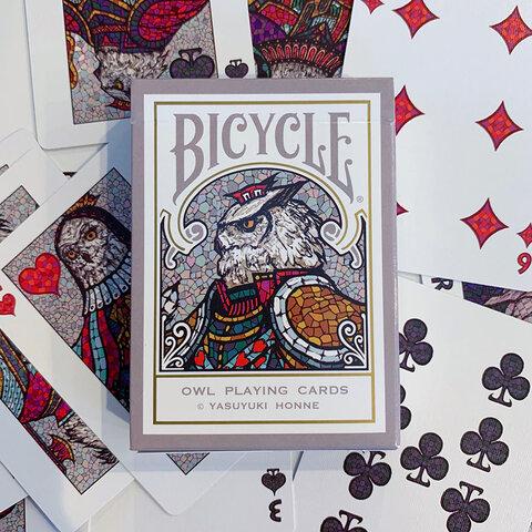 Bicycle Owl Playing Cards (カスタムバイスクル フクロウ オリジナル トランプ )