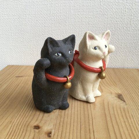 かわいいまねき猫(白と黒)