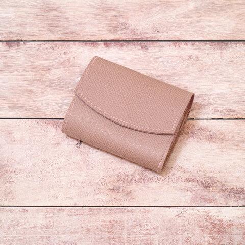 ◎お買い得◎コロンとしたピンクベージュのミニ財布