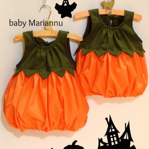 【再販 Happy Halloween☆】ハロウィンかぼちゃのワンピース