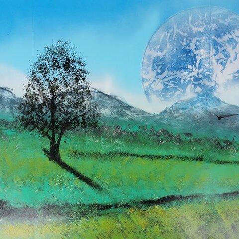 丘の町美瑛の木