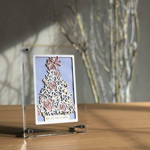 クリスマスツリー(額装)
