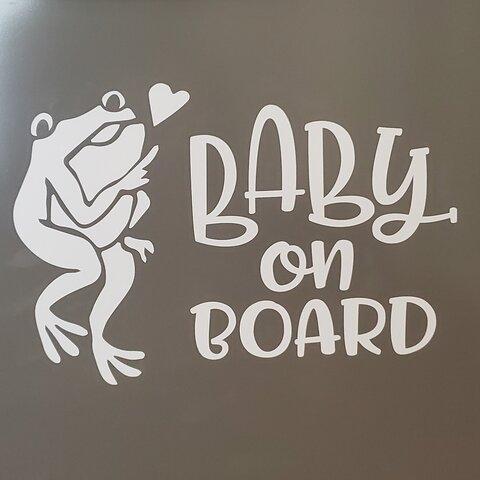 ベイビーオンボード(ベイビーインカー赤ちゃん乗っています) ステッカー カエルちゃん♡