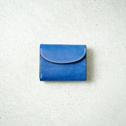 flap mini wallet [ pueblo cobalt ]