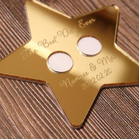 【リングピロー】星型 ミラーゴールド