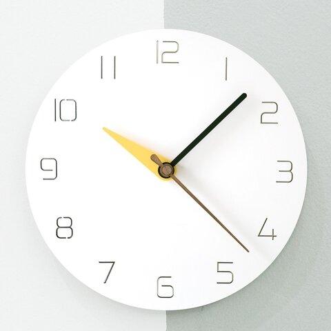 【壁掛け時計 ウォールクロック】3 modern colors - yellow