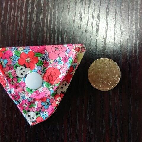 財布の中の小銭入れ「お花にパンダちゃん❤」