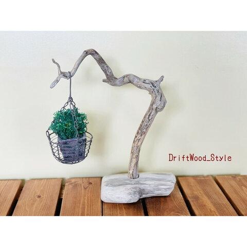 流木インテリア 芸術的な曲線が美しい天然流木の置物 植物や小物を吊り下げて飾れるスタンド ハンギング 木材 癒し 自然