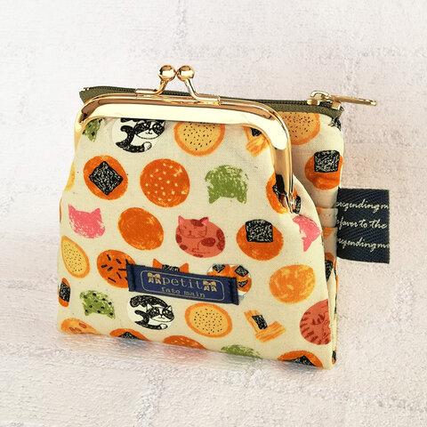 miniwallet 二つ折りミニ財布 ポーチ カードケース 猫 和柄