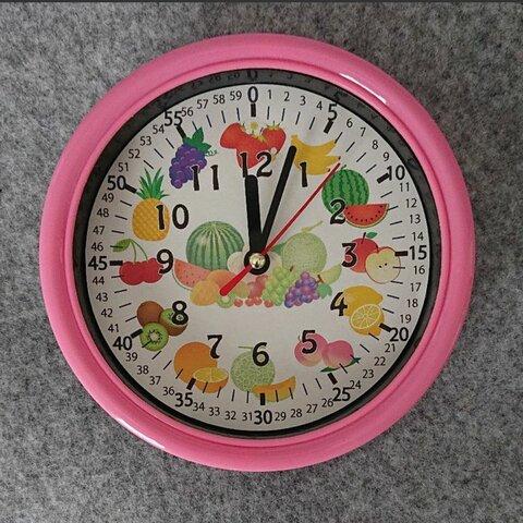 フルーツ 果物 分入り 掛け時計