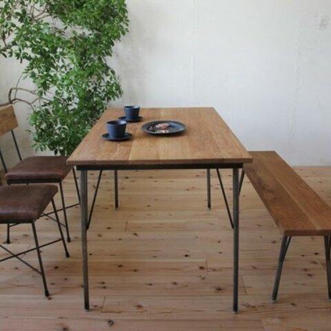 ダイニングテーブル1500x700 オーク 鉄