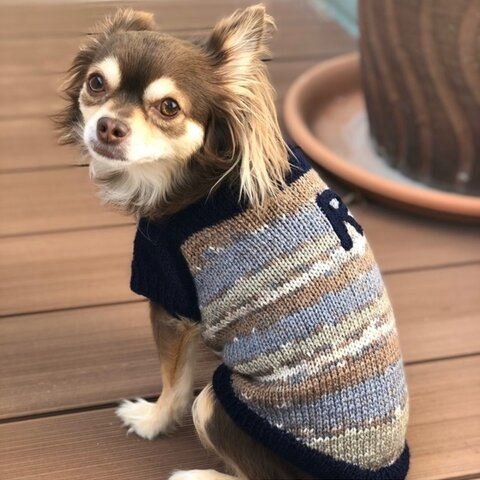 イニシャル入りセーター